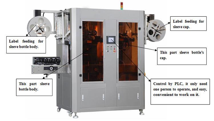 Mașină de etichetare automată cu etichetă din PVC termoizolant cu cap dublu