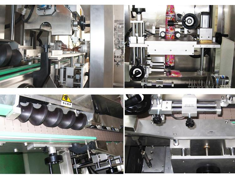 Mașină de etichetare automată cu suc de apă lichidă, ceai, băutură din PVC