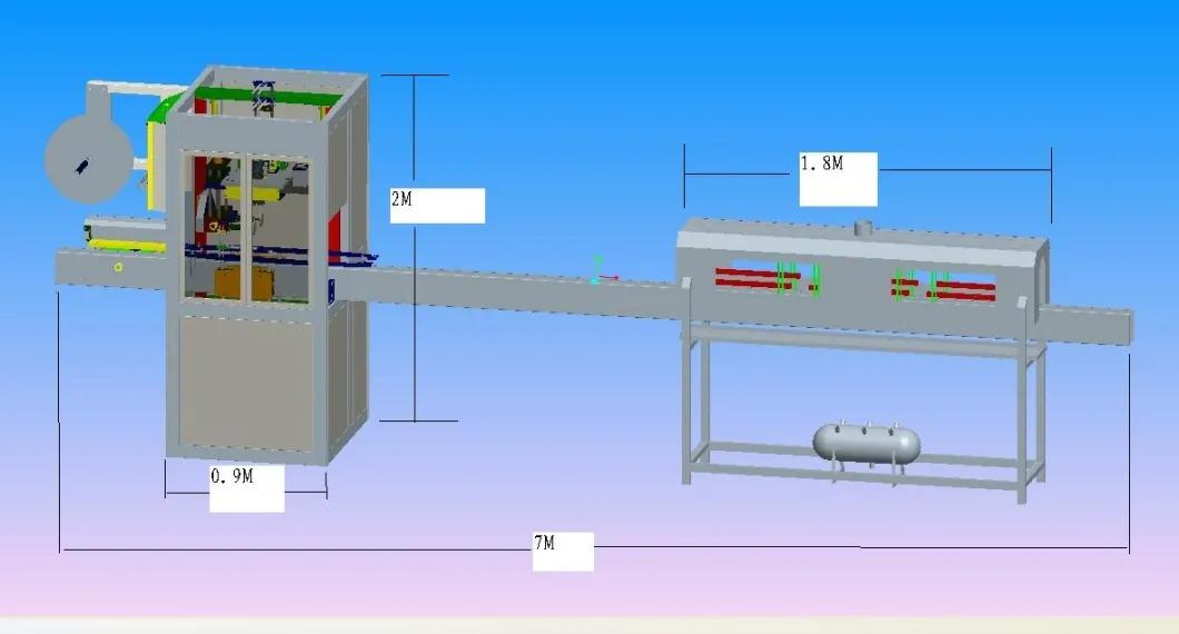 Mașină automată de etichetare cu manșon retractabil pentru sticlă de apă minerală