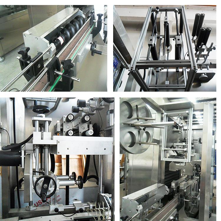 Mașină automată de etichetare a sticlei de termoizolare a sticlei de suc de apă din plastic