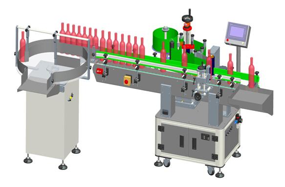 Etichete transparente automate pentru vin roșu vertical, detalii despre etichetarea mașinii