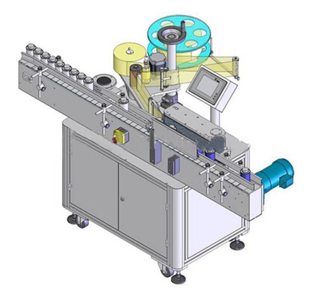 Mașină automată de etichetare verticală a sticlei rotunde