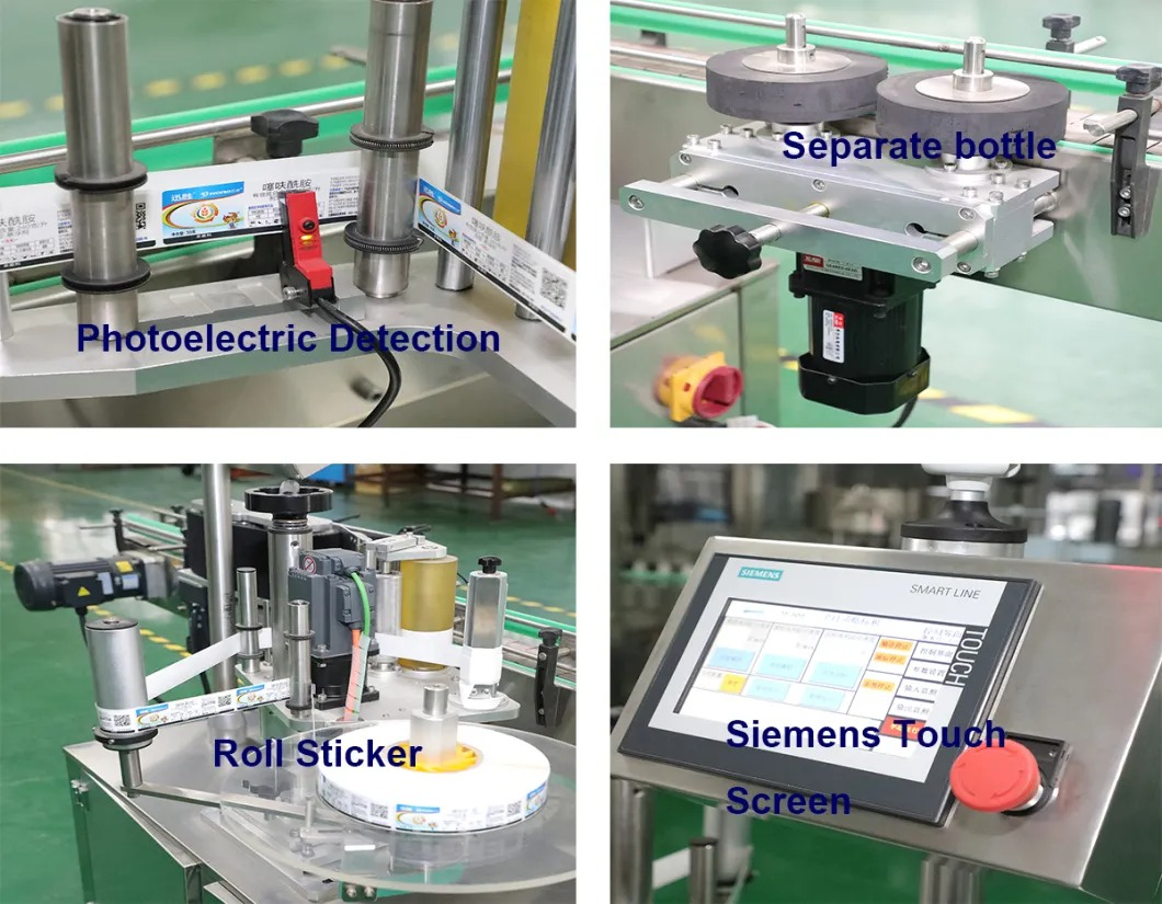 Preț ieftin Sticlă rotundă automată Sticlă pătrată Autocolant Mașină de etichetare