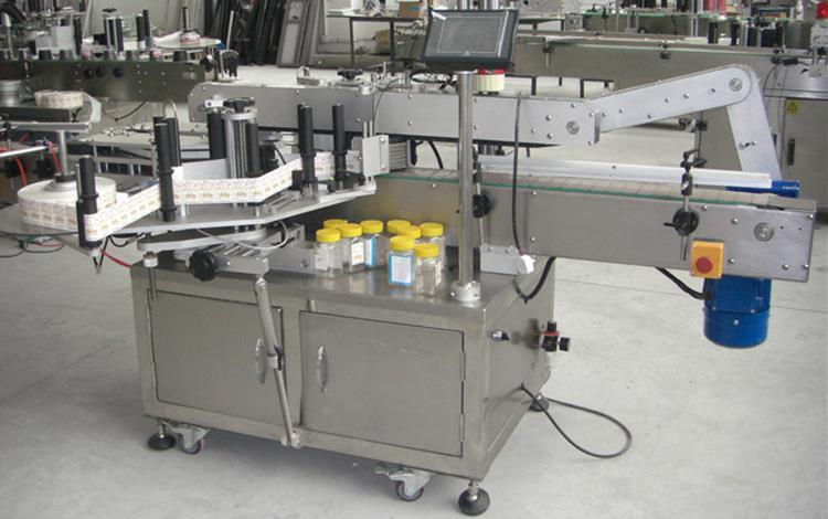 Mașină de etichetare pentru sticle plate cu sticle duble pentru diverse borcane sticle plate pătrate