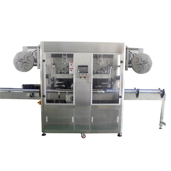 Mașină de etichetare automată completă a gâtului și a corpului cu sticle duble