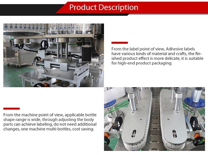 Mașină de etichetare a autocolantelor complet automată pentru sticla de sticlă autoadezivă