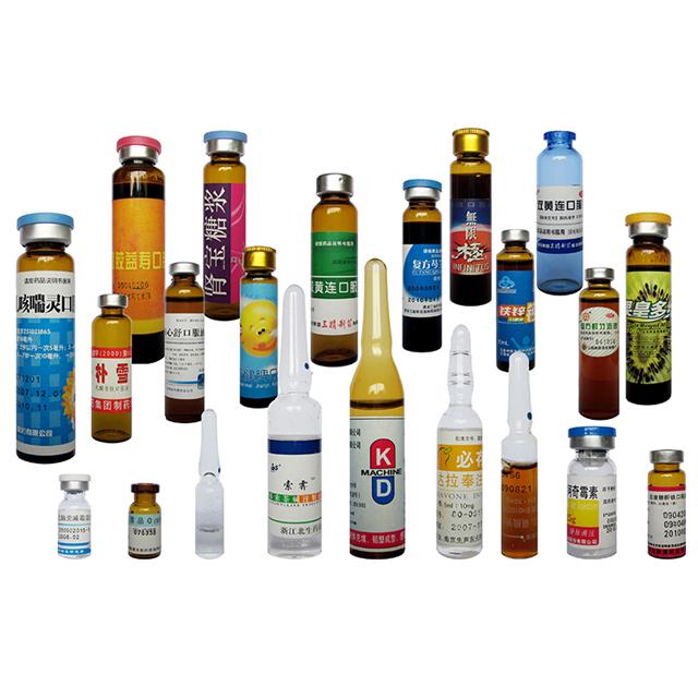 Linia orizontală Servo Motor Ampoule Flacoane Sticle Mașină de etichetare